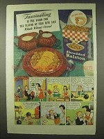1942 Shredded Ralston Cereal Ad - Fascinating is Word