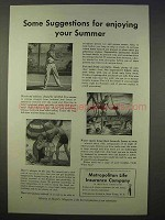 1941 Metropolitan Life Insurance Ad - Enjoying Summer