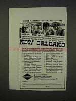 1941 New Orleans Tourism Ad - Pleasure Reigns