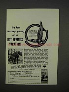 1941 Hot Springs Arkansas Tourism Ad - Keep Young