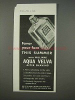 1935 Aqua Velva After Shave Ad - Favor Your Face