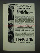 1935 NYK Line Cruise Ad - Priceless Travel Ingredients