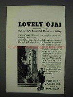 1935 Ojai California Tourism Ad - Lovely