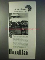 1934 India Tourism Ad - Summer Holiday