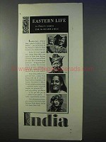 1934 India Tourism Ad - Eastern Life in Western Comfort