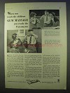 1934 Ipana Toothpaste Ad - Teach Gum Massage
