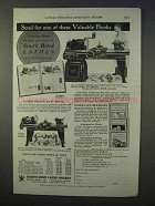 1934 South Bend Lathes Ad - Valuable Books