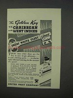 1934 United Fruit Company Cruise Ad - The Golden Key