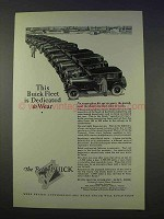 1926 Buick Car Ad - This Fleet is Dedicated to Wear