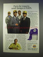 1986 NAPA Auto Parts Ad - Imports Aren't Foreign