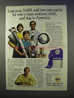 1986 NAPA Auto Parts Ad - Last Year Sold Two For Every