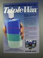 1985 Turtle Wax Triple Wax Ad - A Major Breakthrough