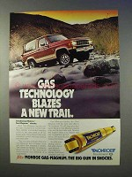 1985 Monroe Gas-Magnum Shocks Ad - Blazes New Trail