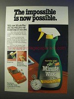1982 Turtle Wax Minute Wax Ad - Impossible Now Possible
