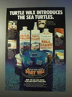 1978 Turtle Wax Boat Wax Ad - The Sea Turtles