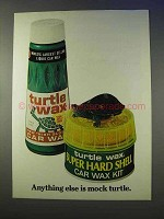 1976 Turtle Wax Super Hard Shell Ad - Mock Turtle