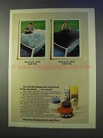 1976 Turtle Wax Ad - Brings Vinyl Back to Tip-Top Shape