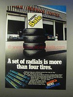 1976 Monroe Shocks Ad - Radials More Than Tires