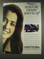 1994 Enterprise Rent-A-Car Ad - I Needed a Lift