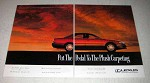 1992 Lexus ES 300 Car Ad - Put Pedal to Plush Carpeting