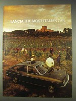 1978 Lancia Car Ad - The Most Italian Car