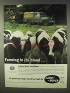 1961 Land Rover Ad - Farming in Its Blood