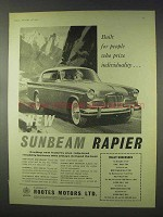 1959 Sunbeam Rapier Car Ad - Prize Individuality