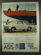1959 Austin A55 Car Ad - New Uncrowded Comfort