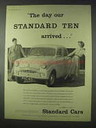 1958 Standard Ten Car Ad - Arrived