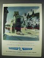 1958 Standard Vigale Vanguard Car Ad - Christmas