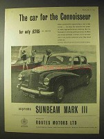 1957 Sunbeam Mark III Car Ad - For the Connoisseur