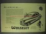 1954 Wolseley Six-Eighty Car Ad - He's On His Way Up