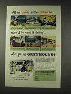 1953 Greyhound Bus Ad - All the comforts