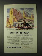 1946 Greyhound Bus Ad - Only by Highway Real America