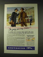 1943 Greyhound Bus Ad - I'm Going Your Way Soldier