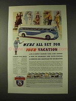 1937 Greyhound Bus Ad - We're All Set For Your Vacation