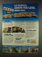 1981 U-Haul Moving Ad - Costs You Less Here's Why