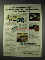 1978 Coachmen RV Ad - Reasons Why the Sensible Choice