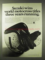 1972 Suzuki Motorcycle Ad - World Motocross Titles