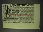 1913 Mead Cycle Ranger Bicycles Ad
