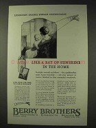 1925 Berry Brothers Luxeberry Enamel Ad - Sunshine