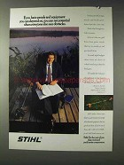 1992 Stihl Trimmer Ad - Equipment You Depend On