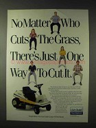 1990 Cub Cadet Riding Mower Ad - One Way to Cut It