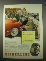 1953 Seiberling Safe-Aire Tire Ad - Accident Started