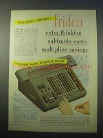 1953 Friden Calculator Ad - Extra Thinking