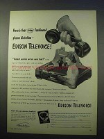 1953 Edison Televoice Phone Dictation Ad - Fashioned