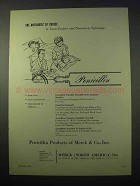 1953 Merck Penicillin Ad - Antibiotic of Choice