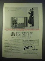1954 Zenith The Barry Model L2593H Television Ad