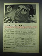 1953 The Equitable Life Assurance Ad - Thoughts at 4am