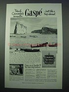 1953 Canadian National Railways Ad - Romantic Gaspe